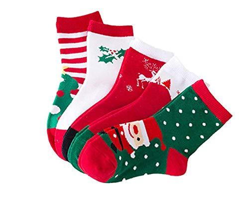 Angel's Pride Weihnachtsstrümpfe Baby Kleinkinder Niedliche Socken mit hübschem Design Nikolaus Geschenk