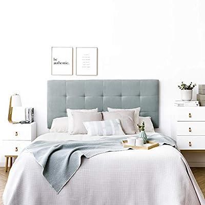 Bonito Diseño: cabecero tapizado acolchado para pared es el complemento perfecto para tu habitación Gran Calidad: tapizado nido de alta calidad. *Producto fabricado en España. Fácil Colocación: no se necesita montaje, solo colgar a la pared e incluye...