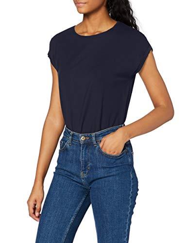 Vero Moda Vmava Plain SS Top Ga Noos Camiseta, Azul (Night S