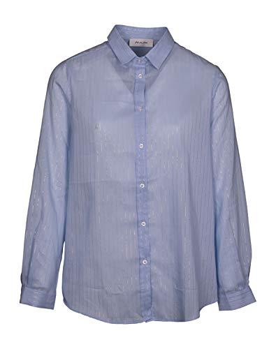 Aglini Damen Hemdbluse Selenite hellblau - 40