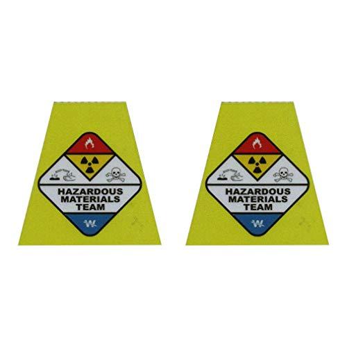 911 Market Hazmat Tetrahedrons Firefighter Reflective TET Sticker Helmet Decal - T 45 Black, Silver