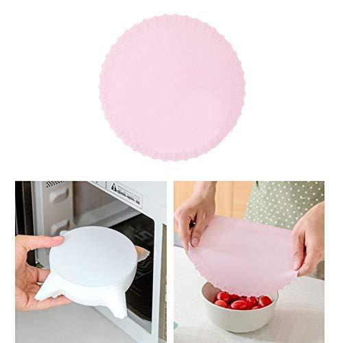 Utensilios de Cocina MMGZ Silicona for Envolver Alimentos Frescos Mantener la Tapa del Sello de vacío de Alta Estiramiento Tapa del Recipiente de almacenaje de la Cubierta