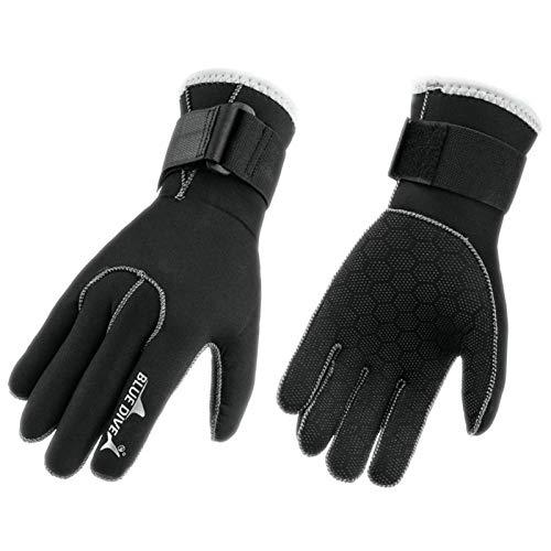 Magent 1Paar Tauchhandschuh/Neoprenhandschuhe/Tauchen Handschuhe 3mm Schwarz Schwimmen Schnorchelausrüstung, Neopren Schnorcheln Kajak Surfen Wassersport Handschuhe