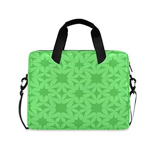 Green Decorative Pattern 16 inch Laptop Shoulder Bag Travel Laptop Briefcase Carrying Messenger Bags