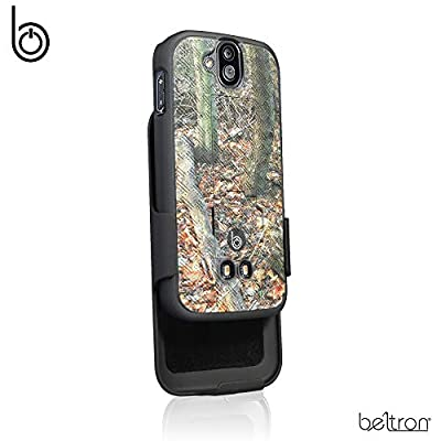 DuraForce Pro 1 Case with Belt Clip Holster, Heavy Duty Slim Shell Holster Combo w/Built-in Kickstand for Kyocera Duraforce Pro 1 E6810 E6820 E6830 E6800 E6833 (ATT Sprint Verizon Unlocked) Camouflage