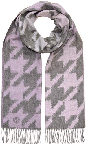 FRAAS Scarf for Women - Winter Scarf with Unique Pattern - Cashmink - Softer than Cashmere - Shawl & Shoulder Wrap with Side Fringe - Light Grey
