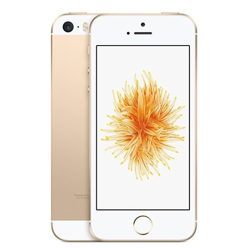 Apple iPhone SE Smartphone 128GB 4 Zoll IPS Retina-Touchscreen, 12 MP Kamera, Farbe Gold (Gold) (Generalüberholt)