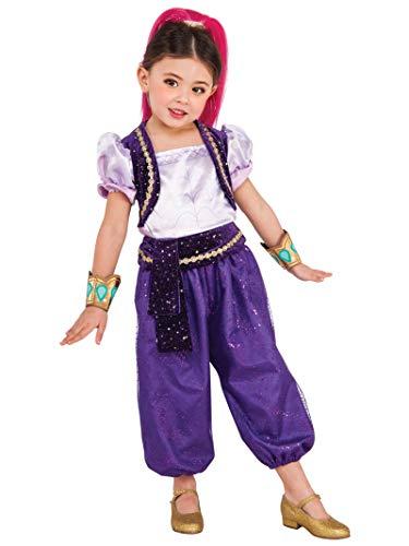 Shimmer & Shine - Disfraz Deluxe violeta para niña, infantil S (3-4 años) Rubie