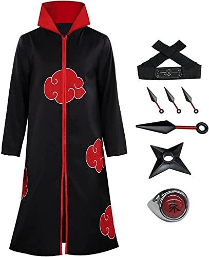 Fuman Naruto Akatsuki Mantel Stehkragen S