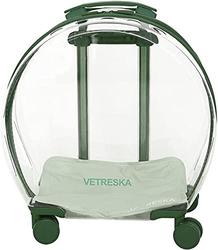 CDFCB EXTRACCIÓN Portal DE Pet Pet Case DE Carro Transparente Cat Bag Trolley Trolley Pet MACIA Mujer Mute Rueda Universal DE Mute Adecuado para Pet Dentro de 20 lbs (9kg)-Estilo t