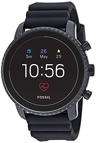 Fossil Men's Gen 4 Explorist HR Heart Rate Stainless Steel and Silicone Touchscreen Smartwatch,...