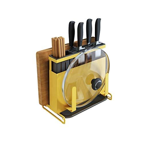 WZHZJ Suministros de Cocina puso el Cuchillo en Rack Rack montadas en...