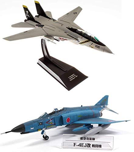 OPO 10 - Lote de 2 Aviones Militares 1/100: Grumman F-14 Tomcat US Navy Top Gun + Mcdonnell Douglas F-4 Phantom (CP01 + SD6)