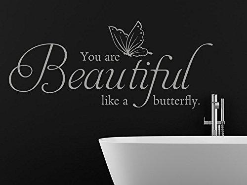 Klebeheld® Wandtattoo You Are Beautiful Like a Butterfly.