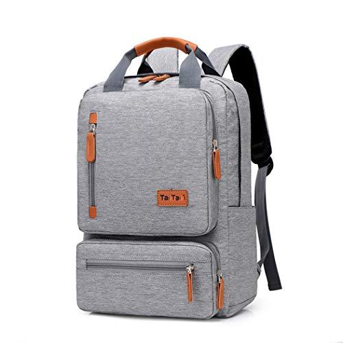 MALPYQ Rucksack, männliche Studentasche Reisetasche Multifunktionsbeutel Freizeit-Laptop-Tasche Vier Farben,Brown