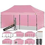 ABCCANOPY Pop-Up-Pavillon, 23 Farben, 10 x 20 cm, Pavillon mit Gehängen und Tragetasche mit...