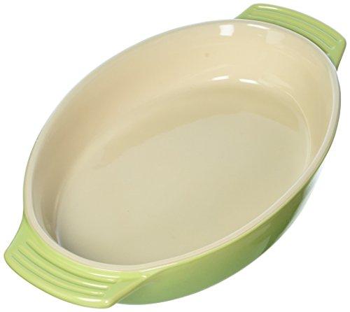 Le Creuset Stoneware Oval Dish, 1-Quart, Palm