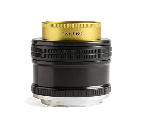 Lensbaby Twist 60 - Objetivo Creativo para Nikon (60 mm, f/2.5) Color Negro