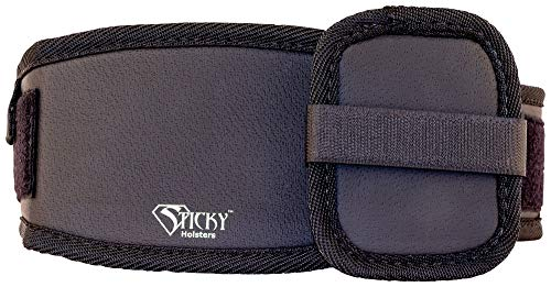STICKY HOLSTERS Ankle Biter Wrap System - Secure Your Gun To Your Leg Easily and Efficiently , Black