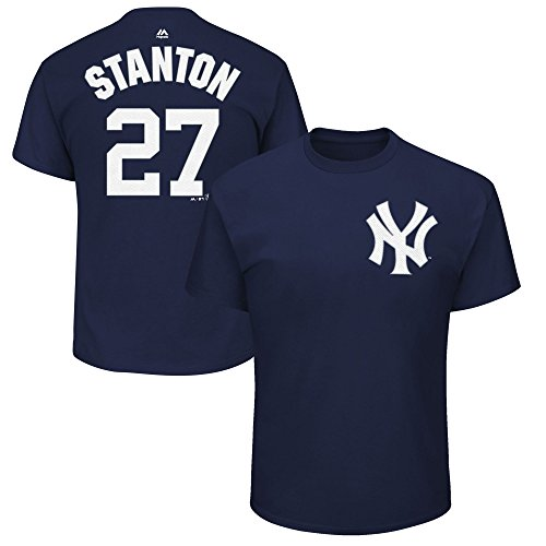 Giancarlo Stanton New York Yankees #27 Youth Player Name and Number Jersey T-Shirt (Large 14/16) Navy Blue