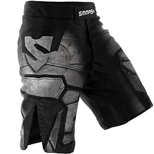 SMMASH Dark-Knight Shorts MMA Mens, Professional Sportswear,