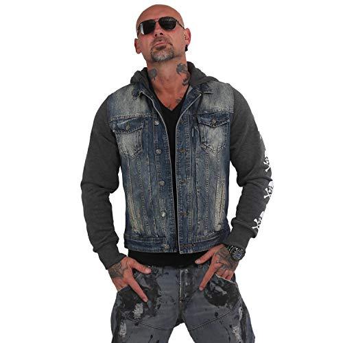 Yakuza Herren Protect Jeans Kapuzenjacke