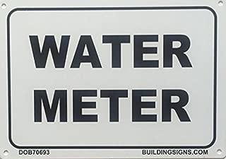 WATER METER SIGN (WHITE 7X10 ALUMINIUM )