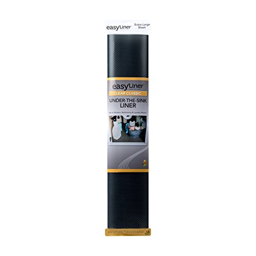 Duck Brand Clear Classic Easy 285865 Under-the-Sink Liner, 24 in x 4 ft Roll, Black