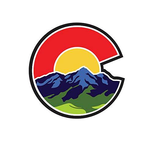 EW Designs Colorado C Nature Logo Shaped Sticker Die Cut Decal CO Denver Boulder Native Bumper Sticker Vinyl Sticker Car Truck Decal 5