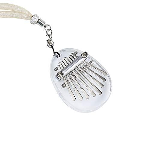 Mingtongli Kalimba 8 8 Tasten Klavier Schlüssel Portable Acryl Kalimba-Rucksack-Schulter-Beutel-Anhänger mit Dekoration