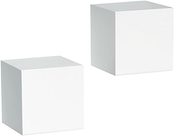 Knape Vogt Shelf Made Decorative Wall Cubes Pair 5 Inch X 5 Inch White