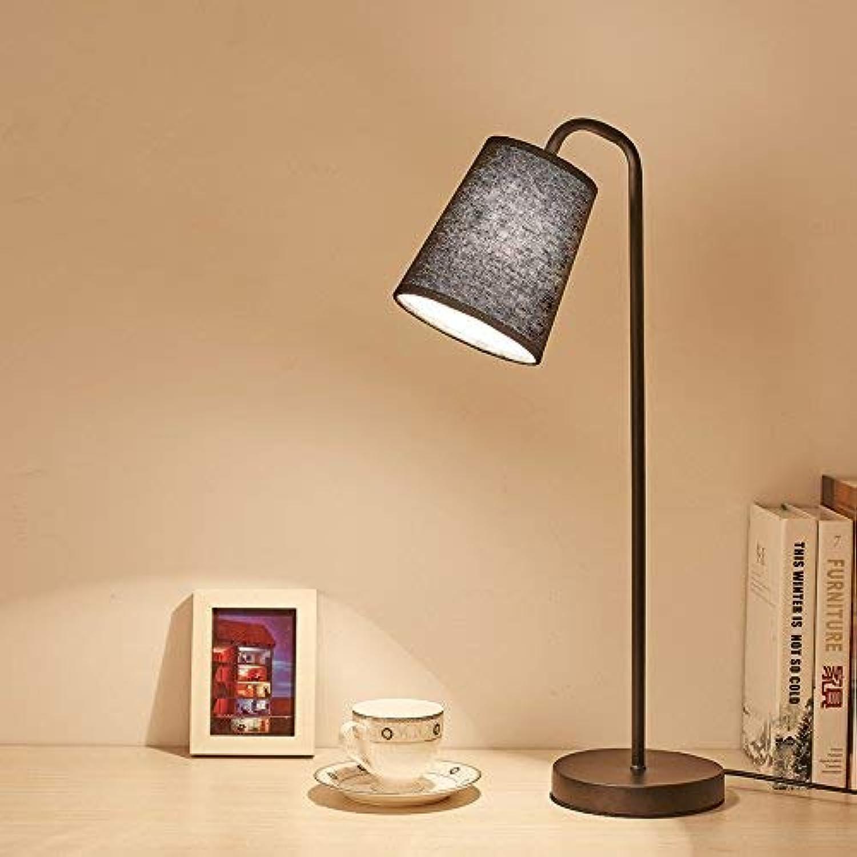 Strollway Modernes Elegantes Zuhause Licht Home Persnlichkeit einfache Nachttischlampe kreative Arbeit Lernen Lesen Schlafzimmer Studie Schmiedeeisen dekorative Tischlampe (Farbe  Schwarz)