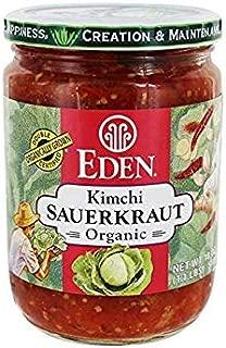 Eden Foods Sauerkraut - Kimchi, Organic 18 oz (Pack of 3)