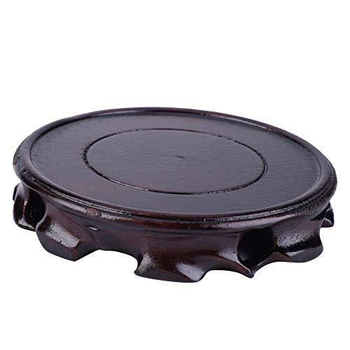 Base redonda de madera maciza para jarrón