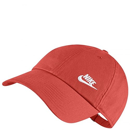NIKE Womens Futura Classic H86 Hat (Rush Coral/White, One Size)