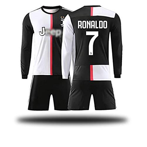 NO.7 Ronaldo/NO.9 Morata/NO.10 Dybala Home Fußballspieler Trikot Zwei Sätze-Kinder und Jugendliche für Erwachsene Langarm-Shirt-1-22#