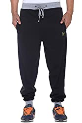 VIMAL Mens Black Cotton Trackpants