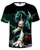 AMOMA Unisex Ocio Cosplay Anime My Hero Academia Camiseta Manga Corta para Hombres jóvenes(XXS,Color34)
