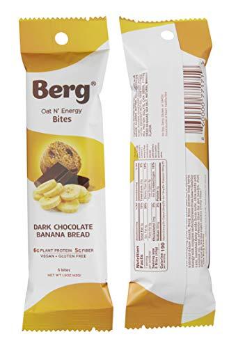 Berg Oat N' Energy Bites, Dark Chocolate Banana Bread, 1.5oz, Pack of 8