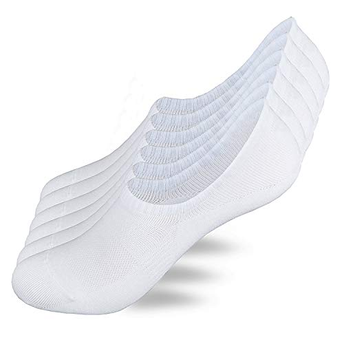 ZJCTUO Sneaker Socken Damen & Herren Unsichtbare Füßlinge Kurzsocken (6 Paar) in Weiß mit Netzen-XL