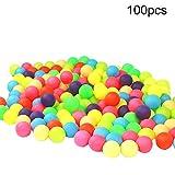 Lai-LYQ - 100 pelotas de ping pong de colores, colores mezclados, 40 mm, color brillante para juego Random Color