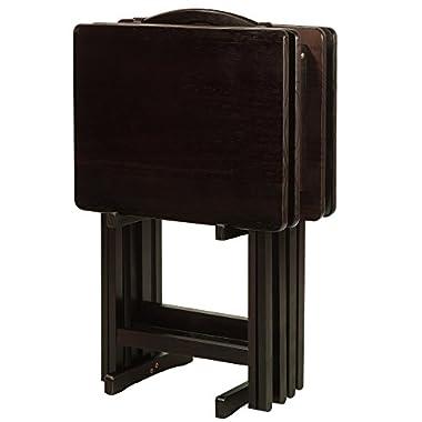 Casual Home 660-44 5-piece Tray Table Set-Espresso