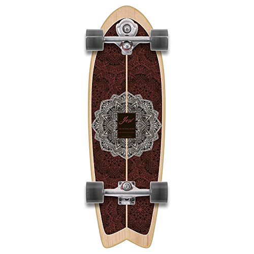 YOW Huntington Beach Power Surf - Skateboard da surf, 76,2 cm, multicolore