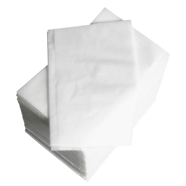 プレゼンター家うなり声約100個 使い捨て マッサージ テーブルシーツベッドカバー 80×180cm 不織布 ブルー - 白
