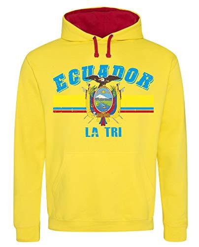 Aprom-Sports Ecuador Hoody Trikot WM EM Fussball Sport Hoodie Kapuzenpullover D03 GeRo (S)