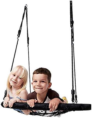 40 Spinnennetz-Baumschwingsitz, Au schaukel für Kinder, 2 h nverstellbare Gurte und 2 Karabiner, 500 lbs Tragf gkeit