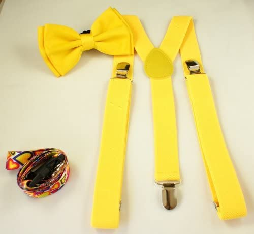 Awesome Kids Yellow Bowtie & Suspender Sets