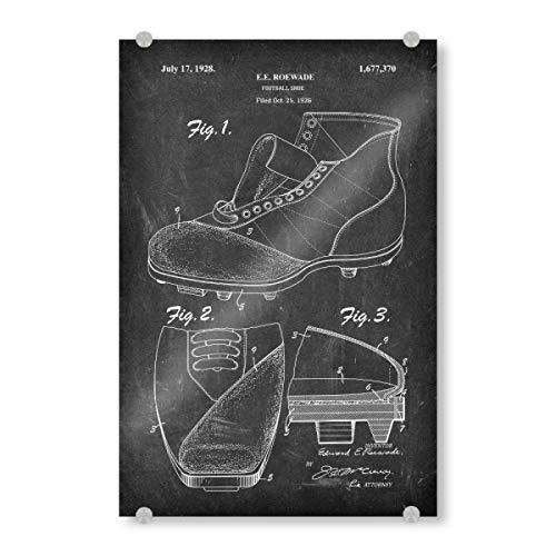 artboxONE Acrylglasbild 150x100 cm Schwarzweiß Fußballschuhe patent (Tafel) - Bild fußballschuhe patent Vintage