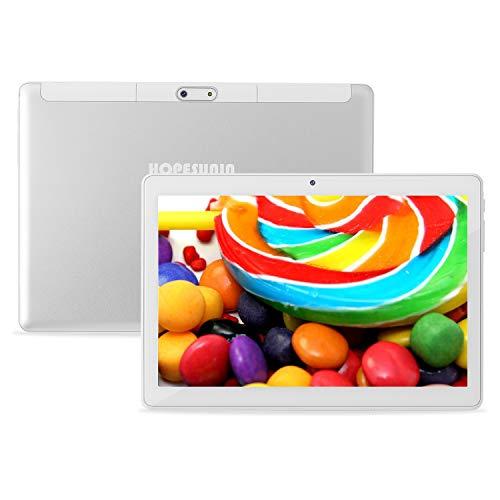 HOPESUNIN Tablet Android da 10.1 pollici con sistema operativo Android 10.0, 4 GB di RAM, 64 GB di ROM Certificazione Google GSM, Ultra-Thin 8000 mAh / 5 MP 8 MP/Type-C (white)