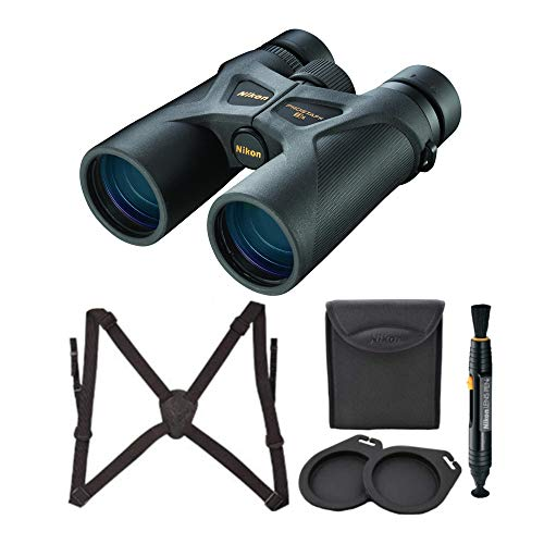 Nikon 8x42 ProStaff 3S Binoculars (Black) with Nikon Lens-Pen & Harness Bundle (3 Items)